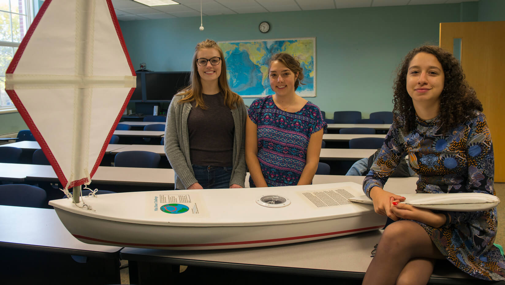 featured image for Marine sciences undergrads to demo, launch unmanned sailboat on European voyage