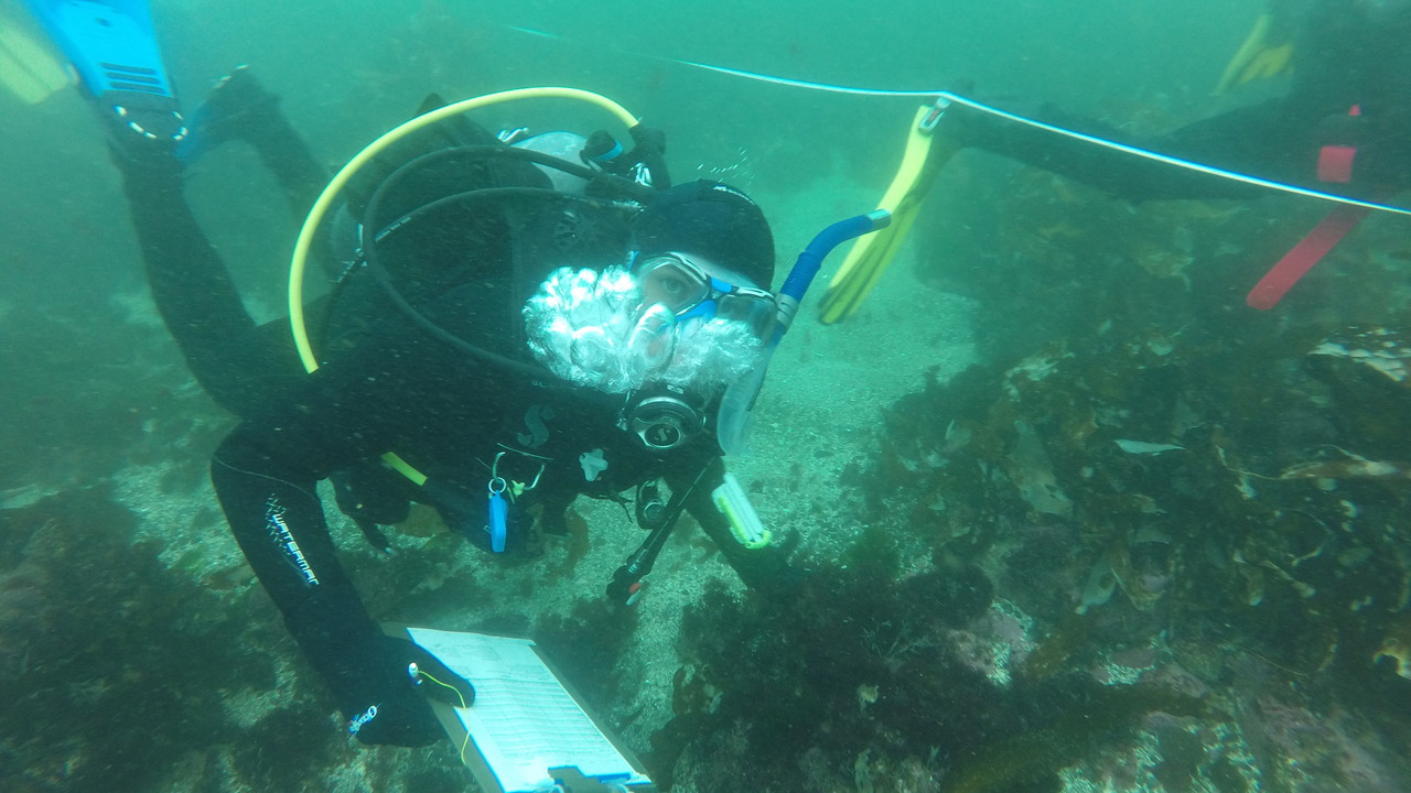 scientific diver student