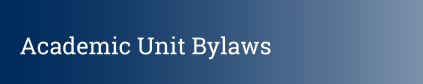 academic unit bylaws button