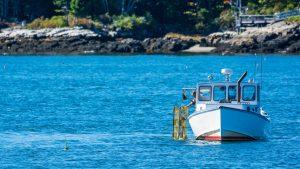 umaine lobster boat fishing ocean