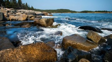 maine rocky ocean coastline