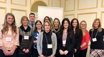 dietetics students faculty at legislative breakfast