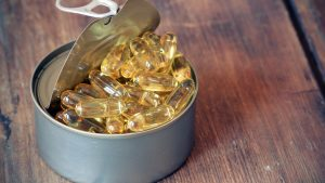 can of fish oil pills