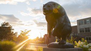 Statue of bear sculpture